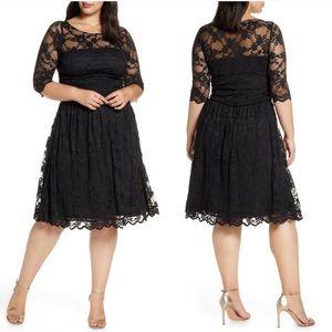 Kiyonna Luna Lace Black Dress 3X